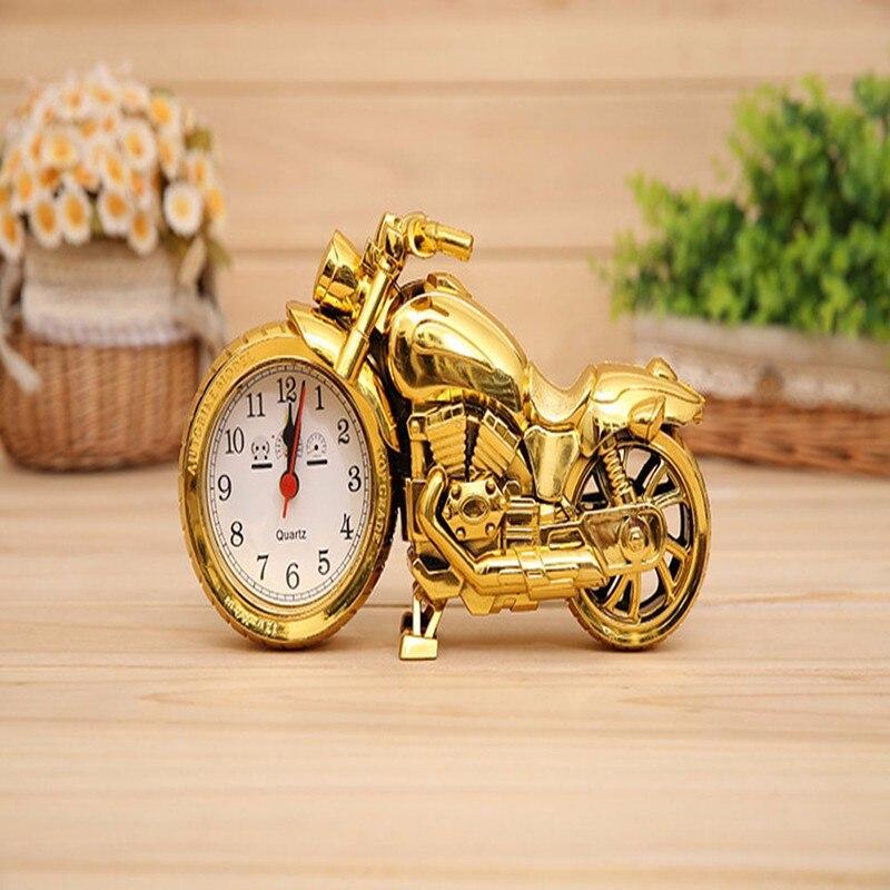 Motorrad Muster Wecker Desktop Kreative Vintage Motorrad Uhr Hause Geburtstagsgeschenk