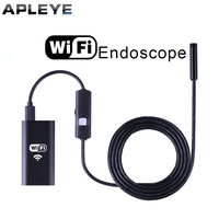 APLEYE 8mm Lens Android IOS Wifi Endoscope With 1m 1 5m 2m 3 5m 5m Cable