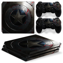 Captain America PS4 Pro Skin Sticker Vinyl Decal