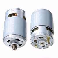 Mayitr 1pc Electric RS550 Motor 12 Teeth Gear 12V 16.8V 21V Carbon Brush Cordless Drill Motors 3mm Shaft Dia. 57mm Length