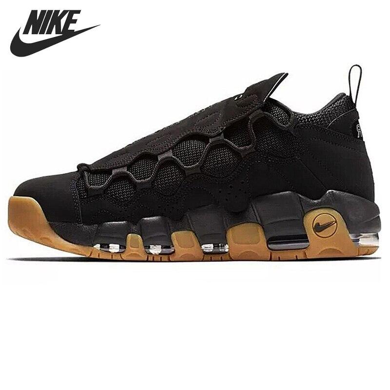 Original nueva llegada 2018 NIKE aire más dinero zapatos de baloncesto de los hombres zapatillas de deporte