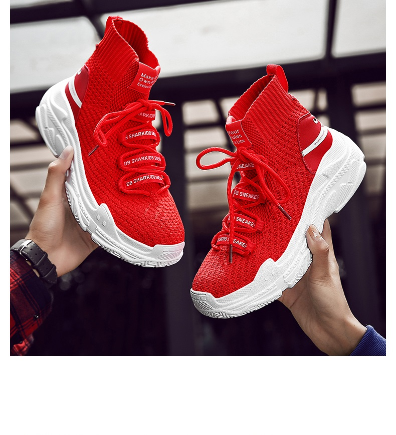 HTB1N49KXQT2gK0jSZPcq6AKkpXaZ Sneakers Men Shoes For Male Sharks Trainers Lovers High Top Footwear Sapatos Masculino Summer Breathable Chaussures Pour Hommes