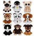 Nueva ty beanie babies observado grande peluches cerdo tigre mono pingüino cat dog niños juguetes de peluche regalos de los niños 15 cm