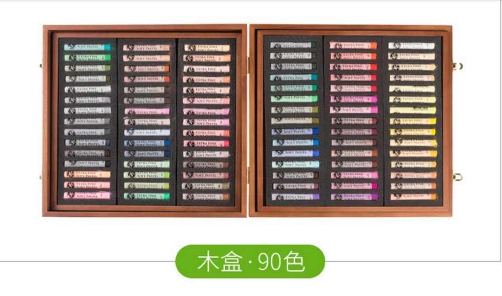 90/160/200 suave pastel pintura dibujo tiza de Color de pintura Estudiante Adulto suministros de Arte de pigmento de color suave Barra de polvo de color