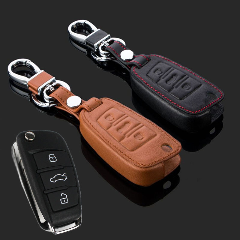 Multicolor Fernautoschlüssel Shell Fall-abdeckung Schutz Leder Für Audi A1 TT A4L A6 A5 A7 A8 Q3 Q7 Q5 Q7 S5 S6 S7 S8 neue