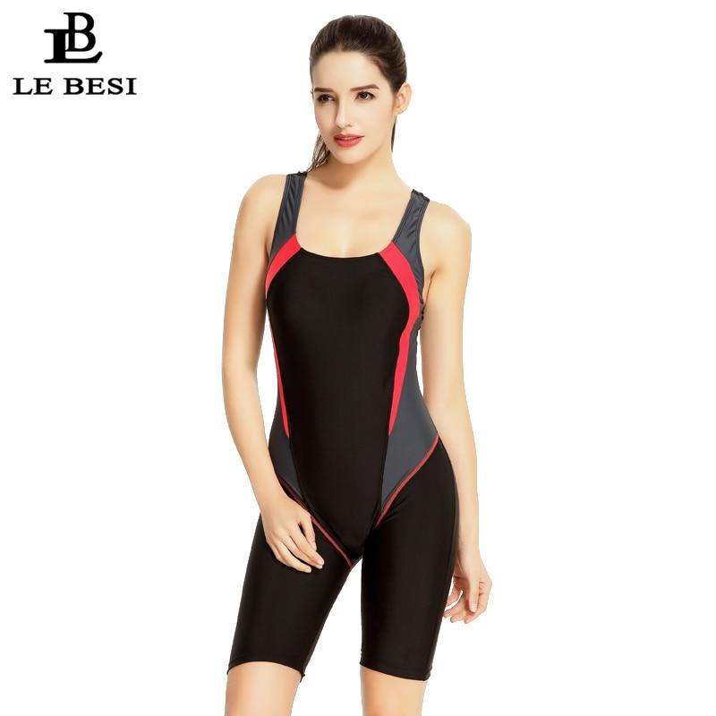 LEBESI 2017 Women's Professional Swimsuit Fifth Pants Knee Length Swimwear Racing Bathing Suit fifth harmony acapulco