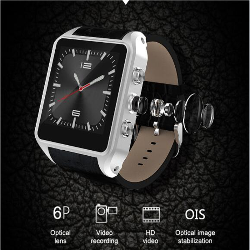 X01 plus smart watch MT6572 Dual core 1.54 screen 1G Ram 8GB Rom sim card Android 5.1 Bluetooth 3G WIFI Camera GPS PK ZGPAX S8