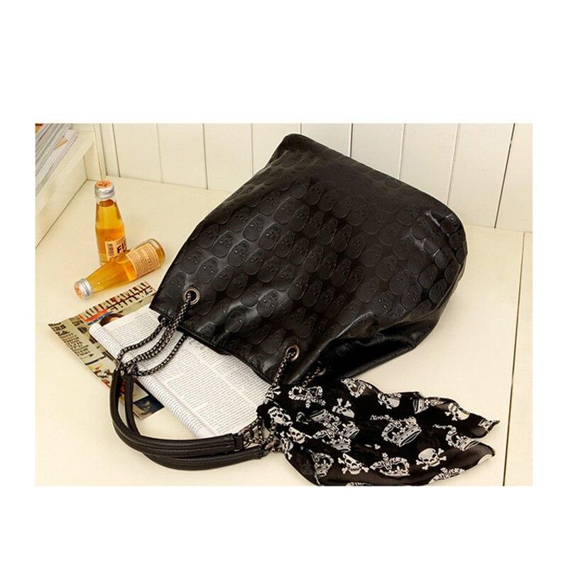 com seda preta fêmea bolsas Tipo de Estampa : Skull