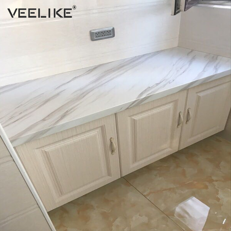 Bathroom Removable Self Adhesive Wallpaper For Kitchen Countertops Peel And Stick Cabinet Shelf Liner Vinyl Contact Paper Marble