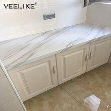 Съемная самоклеящаяся бумага для ванной комнаты для кухонных столешниц, виниловая контактная Мраморная Бумага