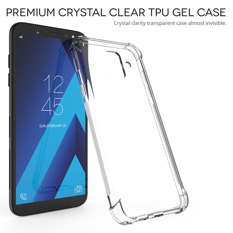 Anti Fall Case For Samsung Galaxy A8 A6 J4 J6 Plus A9 A7 J4 J6 2018 S9 S8 Plus Note 8 J3 J5 J7 2017 A6S Clear Soft TPU Case 360 degrees