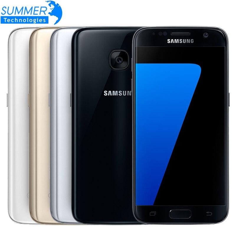 Original samsung galaxy s7 mobile phone waterproof 4g lte 5 1 inch 4gb ram 32gb rom
