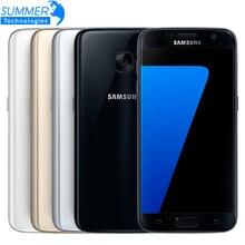 Оригинальный Samsung Galaxy S7 Мобильный Телефон Водонепроницаемый 4 Г LTE 5.1 дюймов 4 ГБ RAM 32 ГБ ROM Quad Core NFC GPS 12MP смартфон