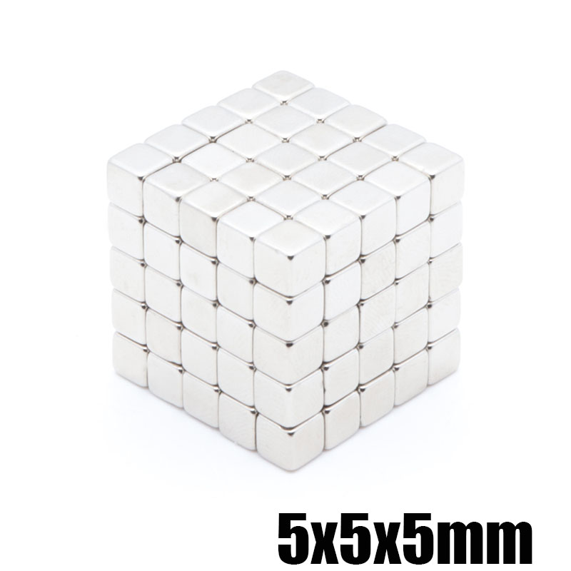 100pcs <font><b>5x5x5</b></font> mm <font><b>neodymium</b></font> <font><b>magnet</b></font> large square cube <font><b>neodymium</b></font> iron boron magnetic rare earth <font><b>magnet</b></font> jewelry 5 * 5 * 5mm <font><b>magnet</b></font> image