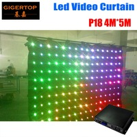 P18 4M*5M LED Video Curtain For DJ Wedding Backdrops LED Vision Curtain With DMX Controller Light Curtain 90V 240V