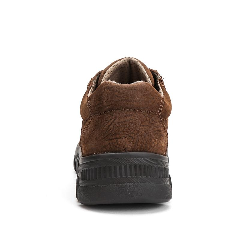 Épais Naturel Non Noir Taille Hommes slip Sneakers En marron kaki Extérieure Cuir La Casual Plus Fond Designer Étanche Chaussures wq74rwF