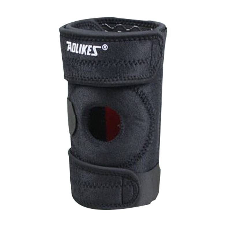 AOLIKES Springs Support Mountaineering 1 Piece Knee Pad With 4 Cycling Knee Mountain Bike Sports Safety Kneepad Brace Protector