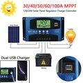 Areyourshop 30A 40A 50A 60A 100A 12V 24V MPPT Solar Panel Regler Laderegler Auto Focus