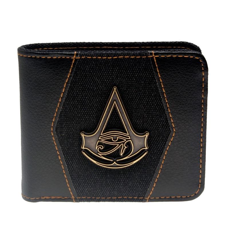 Juego Assassins Creed wallet Men Wallet Small Vintage Wallet Brand High Quality Designer Short Purse DFT-3041 assassins creed wallet dft 1918