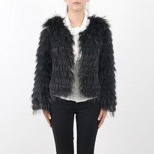 PINK JAVA QC9408 2017 new women natural raccoon dog fur coat jackets high quakity fashion girl's coat