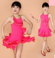 Латинский танец платье конкурс латиноамериканских танцев костюм бахрома платье для девочек оптовая продажа и розничные продажи
