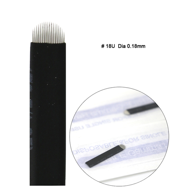 Extremely Thin 0.18mm Nano blades microblading needles Permanent Makeup Eyebrow Tattoo Needle Blade Microblade 3D Embroidery 5