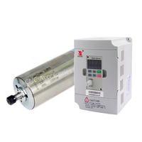 1.5kw D80*208mm water cooled spindle motor ER11 AC220V & 1.5kw 220v DZB280B001.5L2DK VFD Inverter Variable Frequency Drive Machine Tool Spindle     -