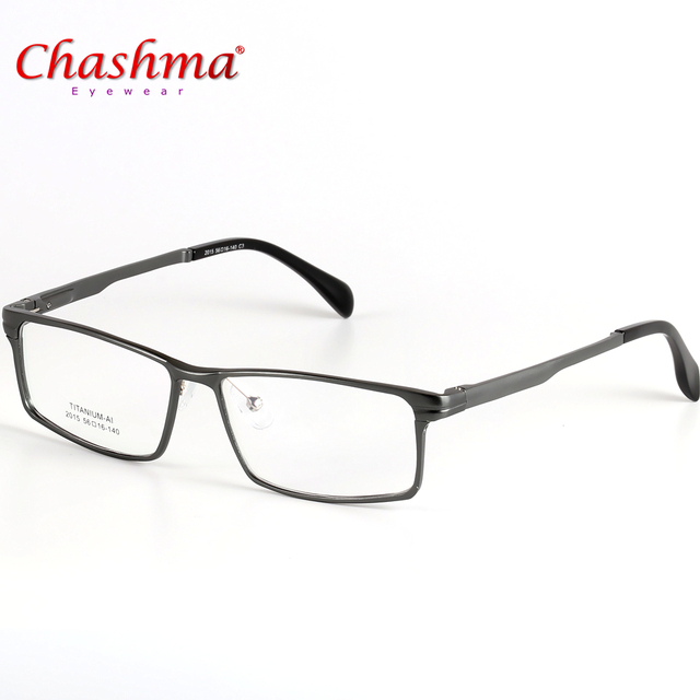 Chashma marca de titanio anteojos marco hombres diseñador hombres de  negocios gafas de marco con la 477a149504