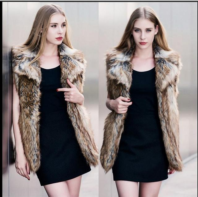 S/3Xl Womens Spring And Autumn Faux Fur Vest Casual Man-Made Imitation Fur Vest Coats Large Size Female Fur Waistcoats Vests C25