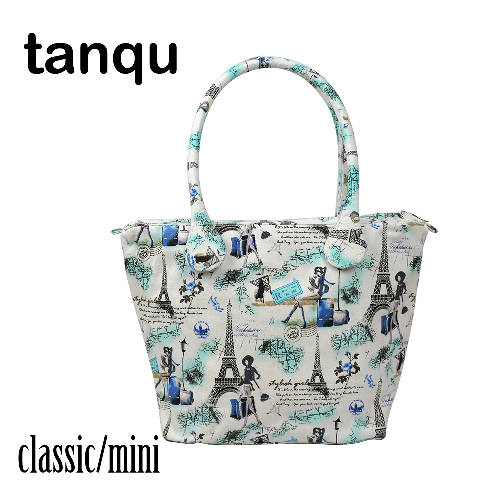 tanqu Canvas Handle with Insert Lining for Obag Short Long Round Flora handles Classic Mini O Bag Women's Bags Shoulder Handbag new colorful cartoon floral insert lining for o chic ochic canvas waterproof inner pocket for obag women handbag