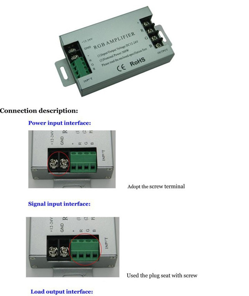 RGB контролер 360 12 30 RGB DC12 /24 5050
