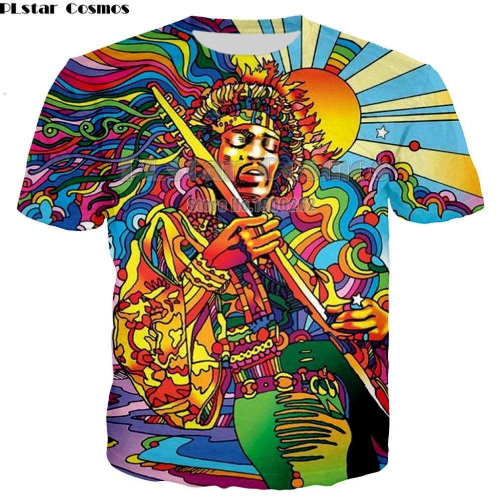 PLstar CosmosNew Hippie Musician   T  -  Shirt   3d colorful a groovy hippie unisex   t     shirt   summer fashion women men   t  -  shirt