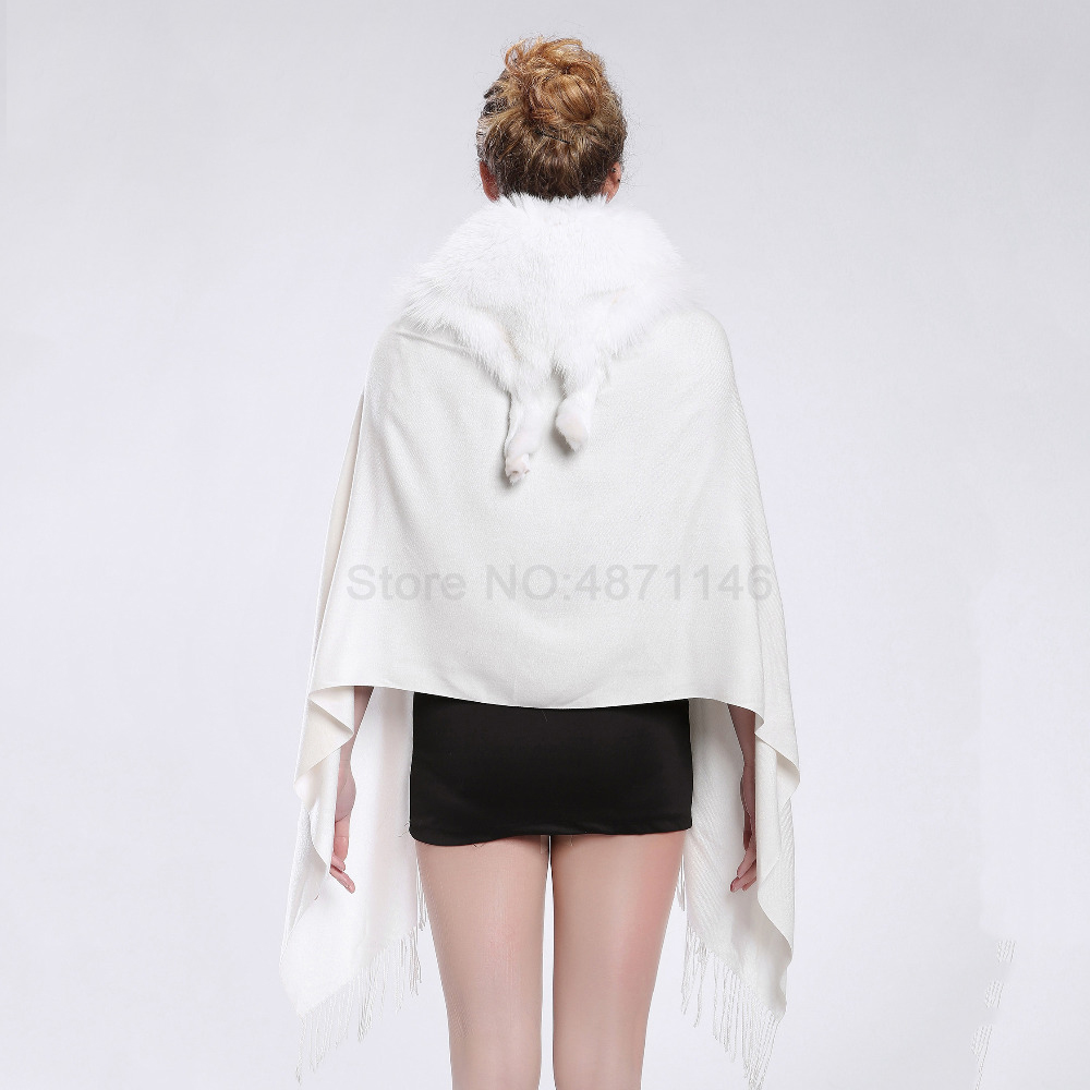 New spring Autumn women lady girl whole white fox fur collar shawl genuine fur bat coat shawl coat scarf Pashmina clothes in Women 39 s Scarves from Apparel Accessories