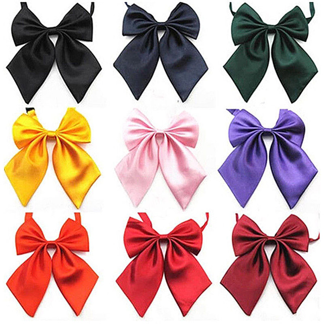 Women Tie Red Butterfly Women's Bow Tie Black Knot Female Girl Student Hotel Clerk Waitress Neck Wear Ribbon Ties green