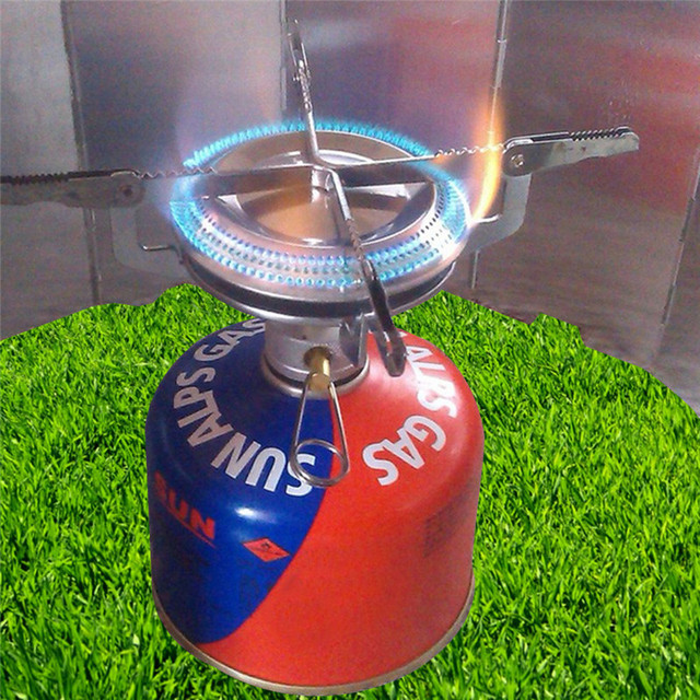 Mini Outdoor Windproof Gas Stove Cooker  Stoves Camping Cooker #8Y