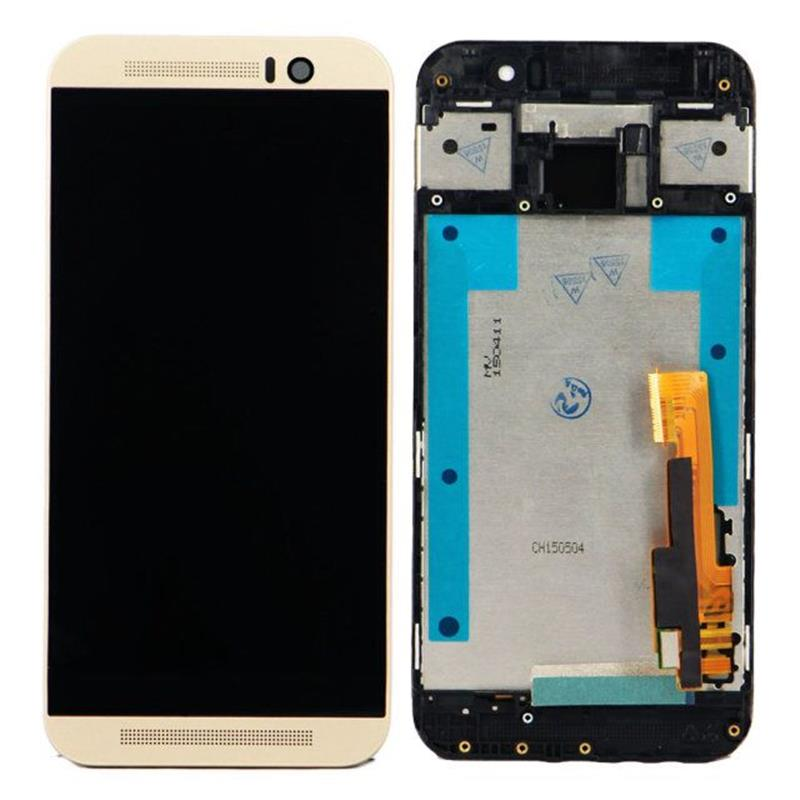 Black\Gold  For HTC One M9 LCD Display Touch Digitizer Assembly + Frame Bezel +Tools lcd screen display touch panel digitizer with frame for htc one m9 black or silver or gold free shipping