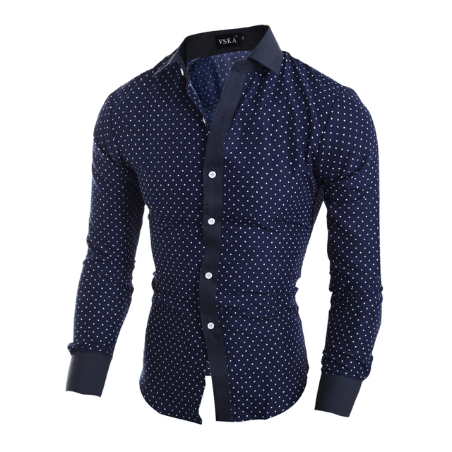 Aliexpress.com : Buy Men Shirt Polka Dot Casual shirt 2016 Spring ...