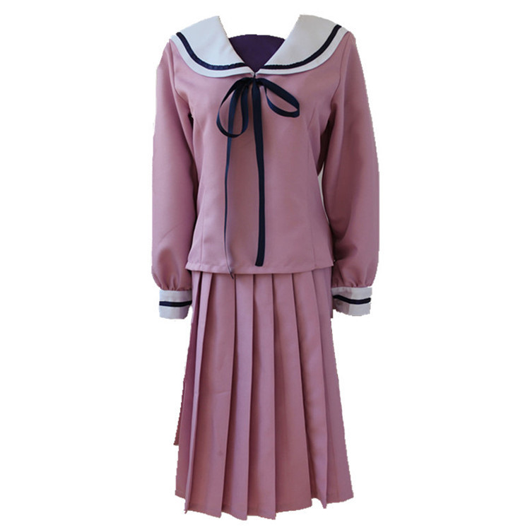 Anime Noragami Iki Hiyori School Uniform Cosplay Costume Full Set Sailor Suit Dress ( Top + Skirt )