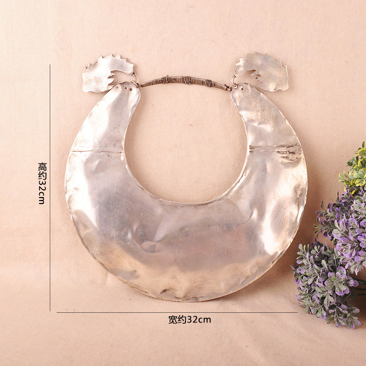 Hot sell Noble FREE SHIPPING>>>@@ Miao ethnic handmade silver collar old Miao Silver Necklace Handmade Dragon Necklace