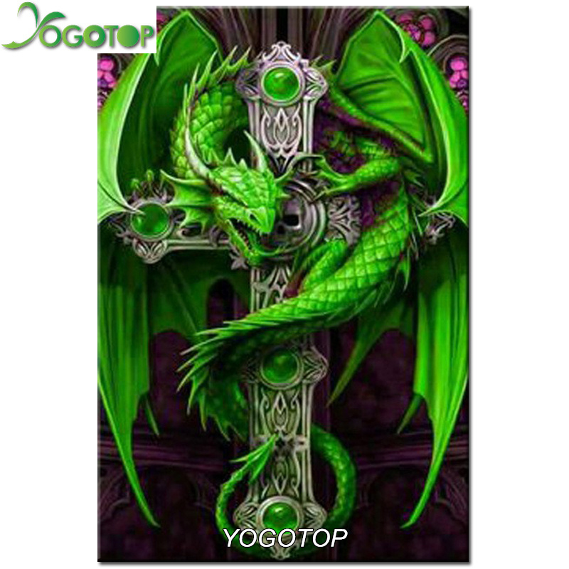 YOGOTOP Diy diamond painting Cross stitch kit Dragon Handicraft Needlework 5D Square Mosaic Diamond Embroidery VS623