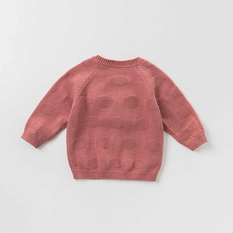 Dbm10857 데이브 벨라 가을 유아 아기 소녀 패션 카디건 아이 유아 코트 어린이 귀여운 고양이 솔리드 니트 스웨터