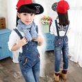 2016 autumn children clothes girls jeans baby causal blue denim baby girl jeans for big girls kids jeans overalls long trousers