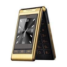 TKEXUN G10 3.0 «двойной двойной Экран Две СИМ-Карты длительным временем ожидания сенсорный экран FM старший телефон флип мобильный телефон для пожилых людей P063