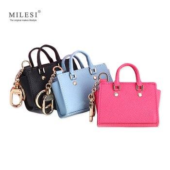Milesi Frauen der Gute Geschmack Mini Flügel Taschen Schlüsselbund für Handtaschen Portemonnaie Niedliche Miniatur Handtasche für Smart Puppe MP372