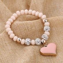 ZOSHI Romantic Vintage font b Bracelets b font For font b Women b font Heart Pendant