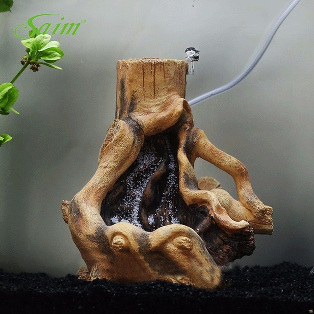 7.5\  Saim Resin Stylish Driftwood Aquarium Fish Tank Tree Root Decoration Quick Sand Landscape Ornament Aquarium Decorations & 7.5\