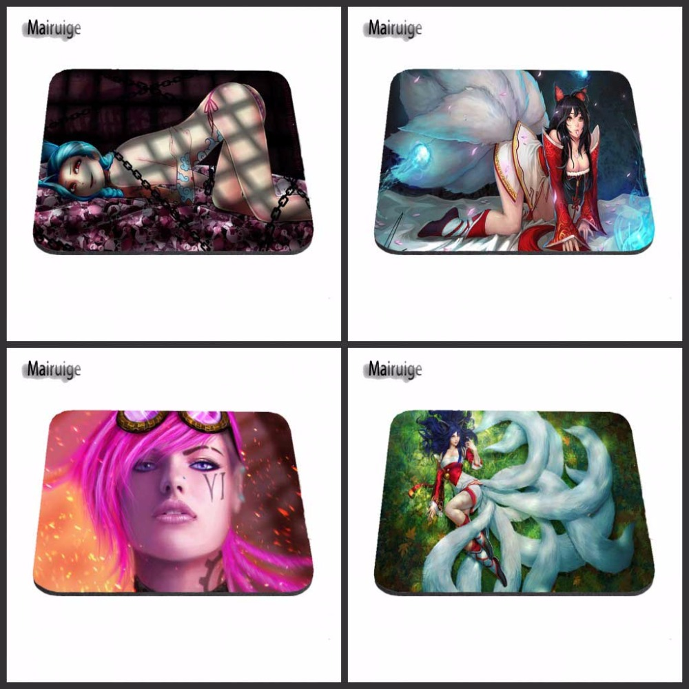 New Square The League of Legends LOL Silon Anti-slip Gaming Mousepad Computer Mouse Pad Mat For Optal Me Trackball Mouse