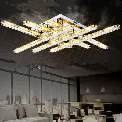 Luminaires de plafond LED avec cristal clair K9 CE UL 86.8*86.8*12.5 cm 110-240 VLuminaires de plafond LED avec cristal clair K9 CE UL 86.8*86.8*12.5 cm 110-240 V