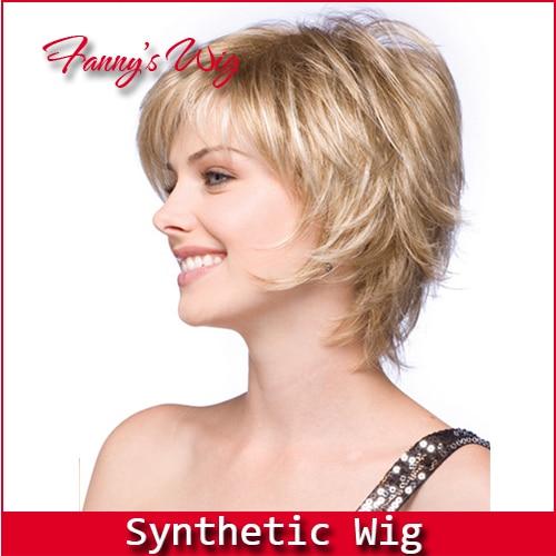 Fanny S Best Wig New Stylish Heat Resistant Short Blonde Wig Wavy