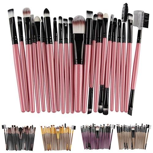 22 Pcs pincel maquiagem Women Makeup Pro Powder Foundation Eyeshadow Eyeliner Blusher Lip Brush Set Make Up Tool